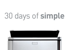 30 Days of Simple, Win simplehuman Products!