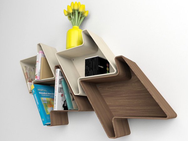 Pied-de-Poule - Shelves by  Julia Quancard