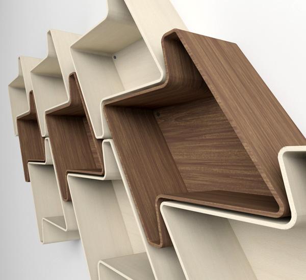 Houndstooth Wall Shelving Yanko Design