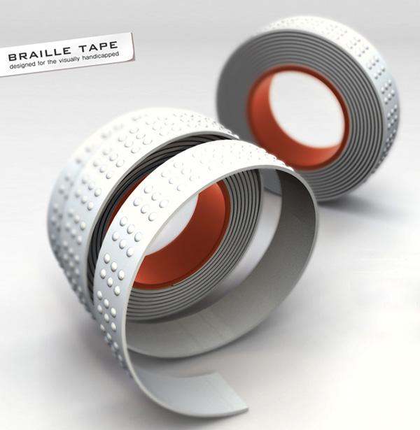 Braille Tape by Kukil Han, Yongju Kwak, Young-Seok Kim & Dongbin Shin
