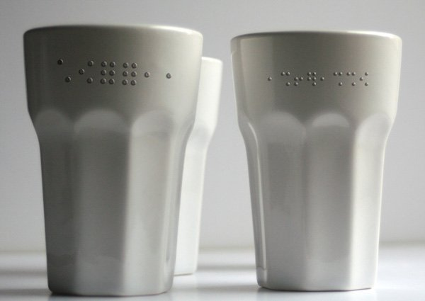 Contact Series - Braille Embossed Ceramics by Alafuro Sikoki