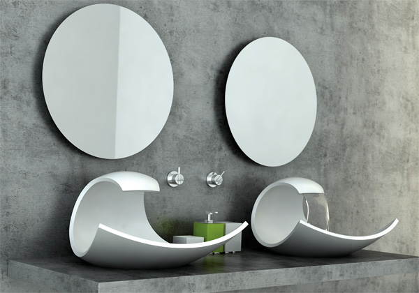 What a wave yanko design - Designer bathroom sinks basins ...