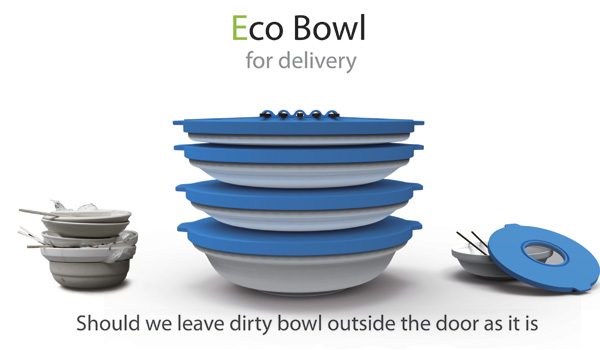 Eco Bowl for Delivery by  Jongduck Park