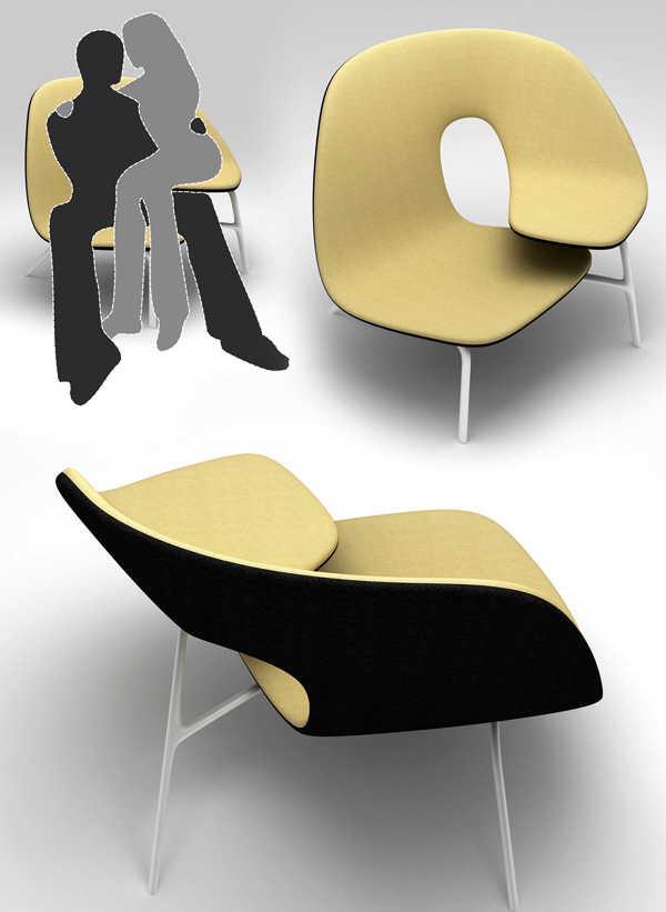 A Chair for Clingy Lovers | Yanko Design