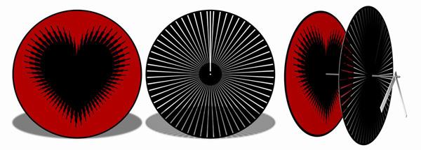 Moire Seconds Watch Concept by Zoltan B. Kecskemeti