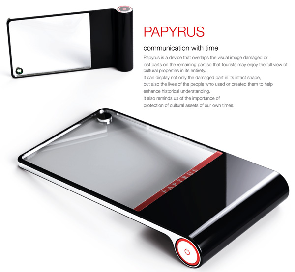 Papyrus – Historical Site Digital Restore and Information Device by Jeongsuk Park