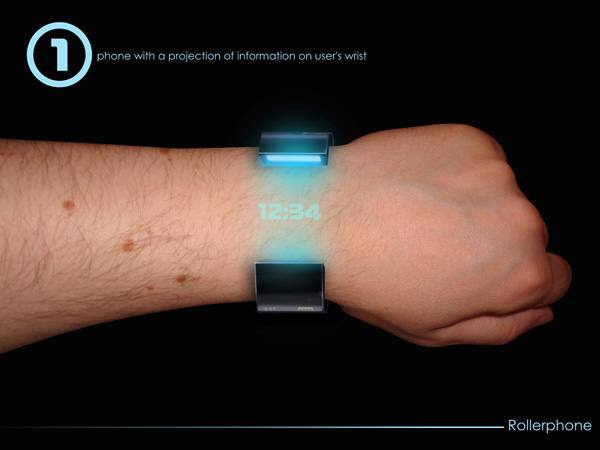 Rollerphone – Concept Braclet Phone by Alexey Chugunnikov