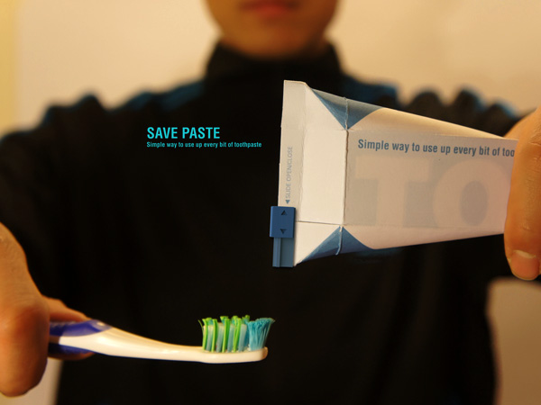 SavePaste – Toothpaste Packaging Design by Sang Min Yu and Wong Sang Lee