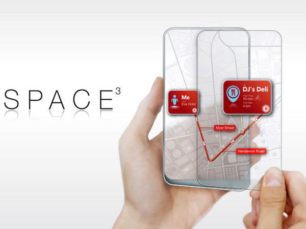 Space 3 - Mobile Device Concept by Wenhing Chu & Kok Keong Wong