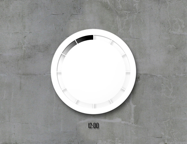 Time Flows - Wall Clock Concept by Byung Min Kim