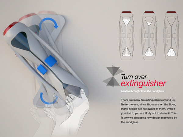Turnover Extinguisher – Fire Extinguisher Design by Jin Junho, Woo Seul A & Lyu Byung Chul