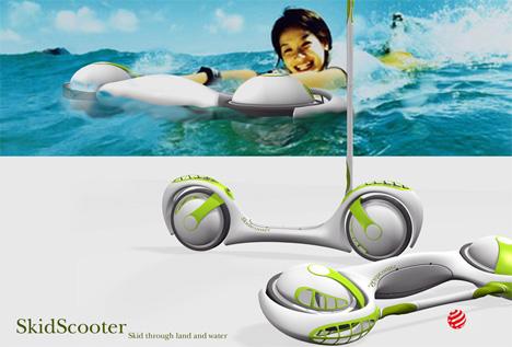 Amphibious Kick Scooter by Yong Jieyu