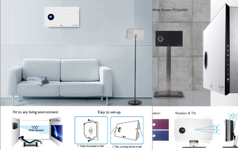 LG Wall Mountable Digital Projector