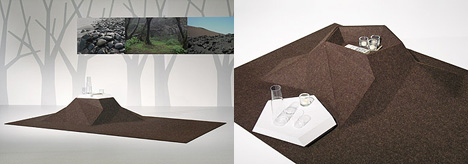 Highland Lowland – Carpet & Coffee Table in One by Stauffacher Benz