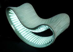 Luxus - Chair with Light by Christian Flindt