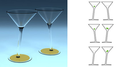 Yes No Maybe Martini Glass by Michael Roller