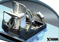 X Turn - Rotating Snowboard Binding by David Newton