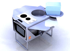 Transportable Kitchenette by Aurelien Banerjee & Olivier Picard