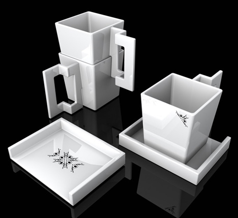Veil Coffee Set by Hugo Danti