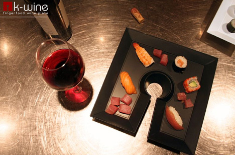 K-wine – Finger Food Wine Plate by Matteo Bertanelli & Michele Di Monte