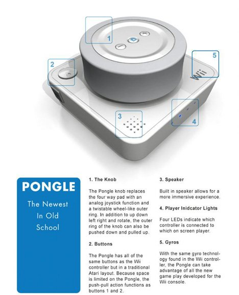 Wii Pongle Controller by Hayes Urban