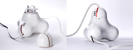 Three Outlet Power Extension Cord by Sixis-Design Studio