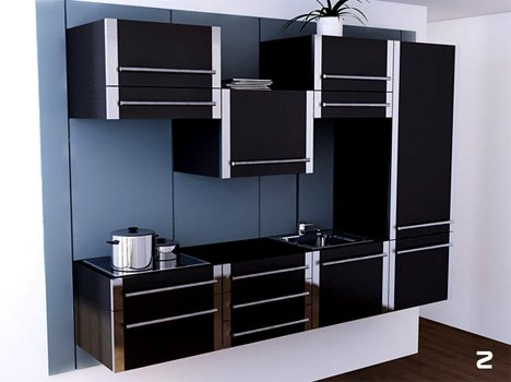 Lift – Modular Kitchen by Michel Cornu » Yanko Design