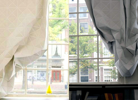 Faceted Curtain by Hannah Allijin