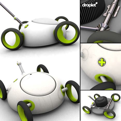 Droplet – Electric Mulching Lawnmower by Ashley Marsh Croft
