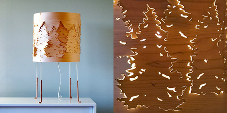 Norwegian Forest Table Light by Catherine Kullberg