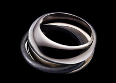 Mobile Ebony Eternity Ring by Fred Pinel & Jacques Owczarek