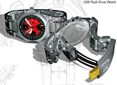 Kronos - USB Flash Drive Watch by Andrew Wilkerson