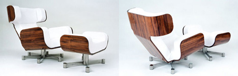 Wing Chair Makes You Weightlessness by Michael Malmborg