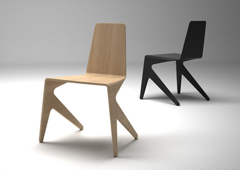 Mosquito chair by michael bihain yanko design - Chaises empilables design ...