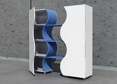 Twin Bookshelf by Zeynep Cinisli