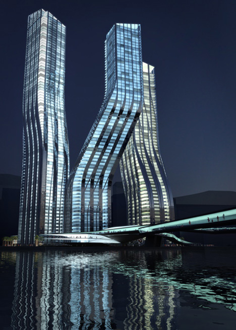 Dancing Towers by Zaha Hadid