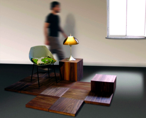 Floris – Wood Flooring System by Klaartje Daamen