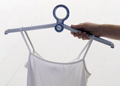 Ion Technology Clothes Hanger Removes Cigarette Smoke by Jun Kurihara