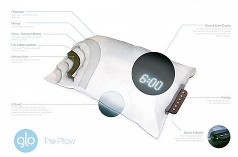Glo Pillow – Gently Wakes You In 40 Minutes by Eoin McNally & Ian Walton
