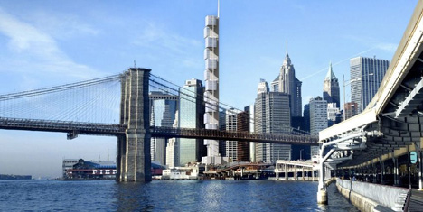 Eighty South Street – Vertical Row Skyline by Santiago Calatrava