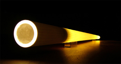 Tubo – Tree Trunk Lit From Within by Massimo Barbierato