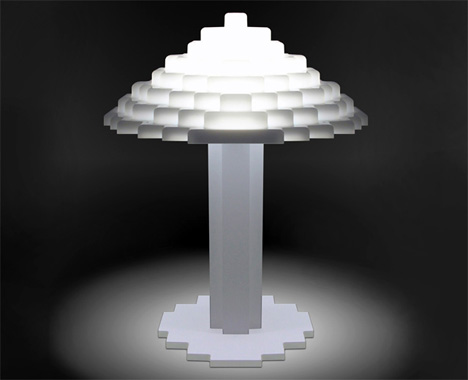 Brick Bright Lego Lamp by OutofStock Studio