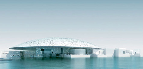 Louvre – 24,000 sq m Dome in Abu Dhabi by Jean Nouvel