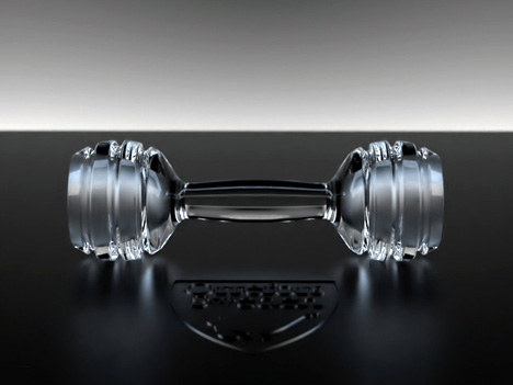 Orrefors Crystal Dumbbell by Alex Undall
