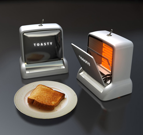 Toasty – Cassette-deck Style Toaster by Arthur Wu