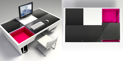 puzzle table by hsien chang yanko design. Black Bedroom Furniture Sets. Home Design Ideas