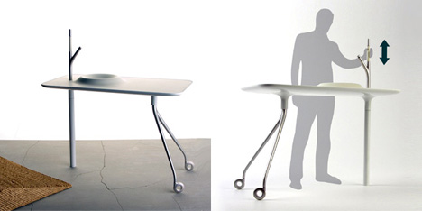 Mobile Washstand/Table by Wolfgang Roessler & Gregor Dauth