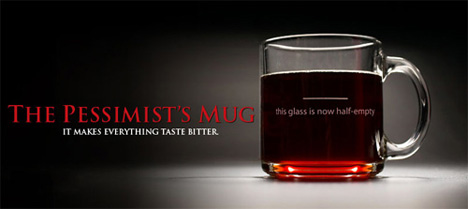 The Pessimist's Mug by Despair Studio