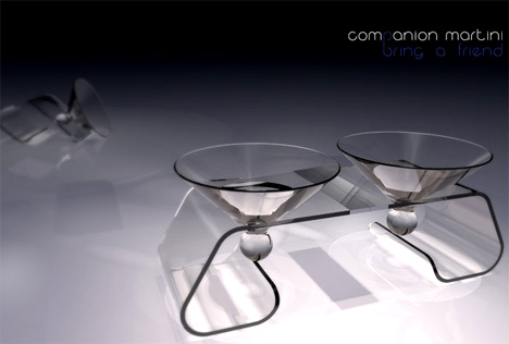 The Companion Martini Glass by Chris Livaudais
