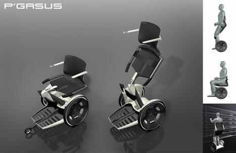 pegasus2 - Kullan�c�s�n� aya�a kald�rabilen tekerlekli sandalye projesi: Porsche Design Studio